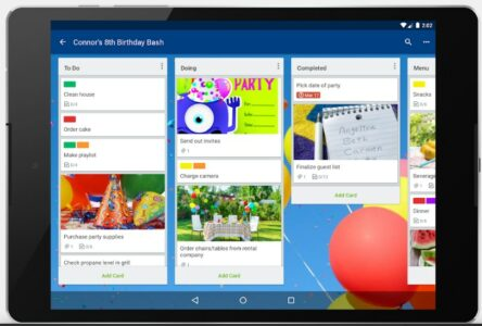 Screenshot of Trello app interface