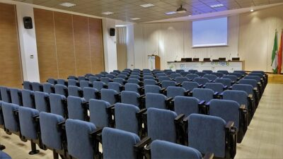 An example of an auditorium layout for meeting rooms.