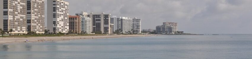 An ocean front view of Boca Raton, one of the most business-friendly cities in South Florida.