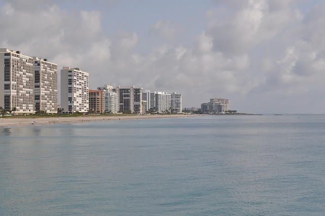 An ocean front view of Boca Raton, one of the best places to live in South Florida.
