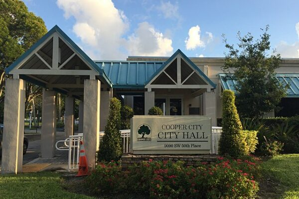 The city hall of Cooper City, one of the best places to live in South Florida.