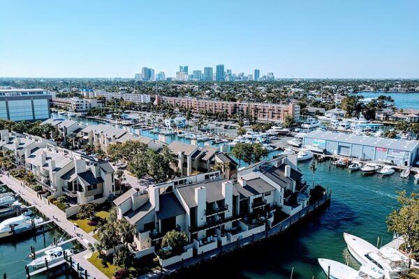 An aerial view of Fort Lauderdale, one of the best places to live in South Florida.