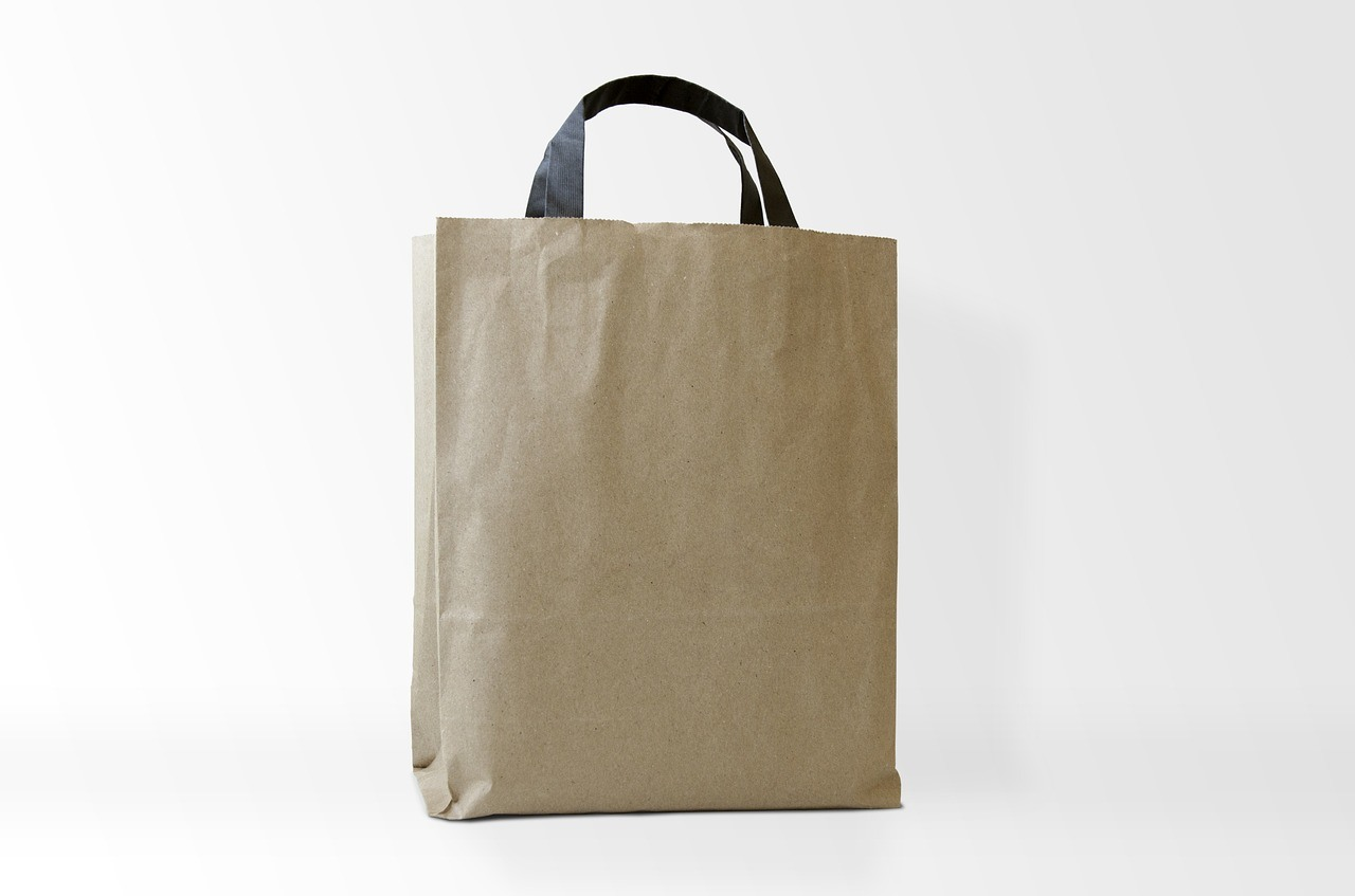 An example of a paper food bag that employees bring during the brown bag sessions.