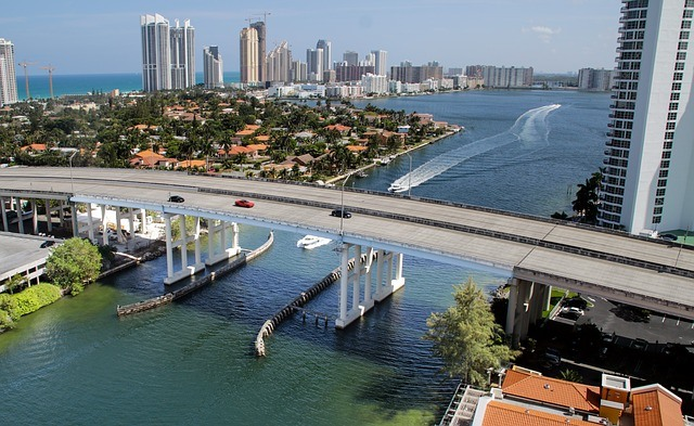 An aerial view of Miami, one of the best places to live in South Florida.
