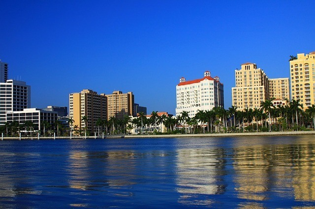 A ocean front view of Palm Beach, one of the best places to live in South Florida.