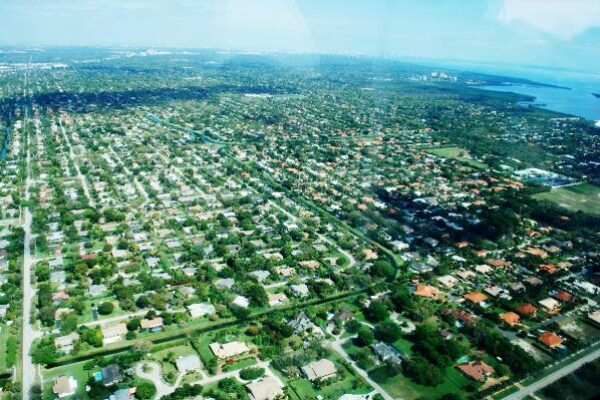 An aerial view of Palmetto Bay, one of the best places to live in South Florida.