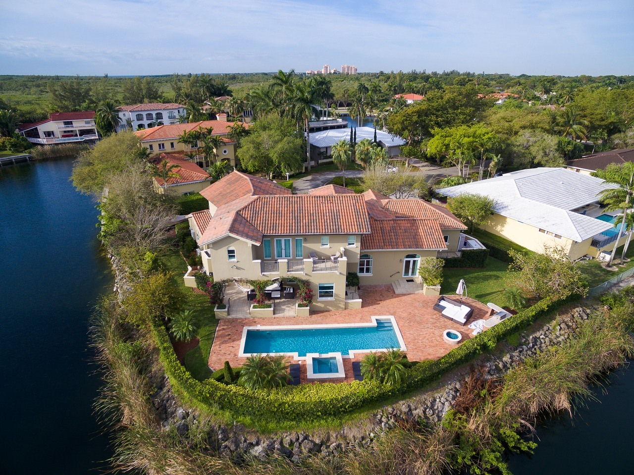 An aerial view of one of the most liveable places in South Florida.
