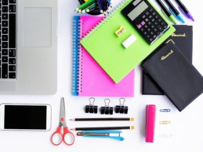 A sample of office supplies for small businesses.