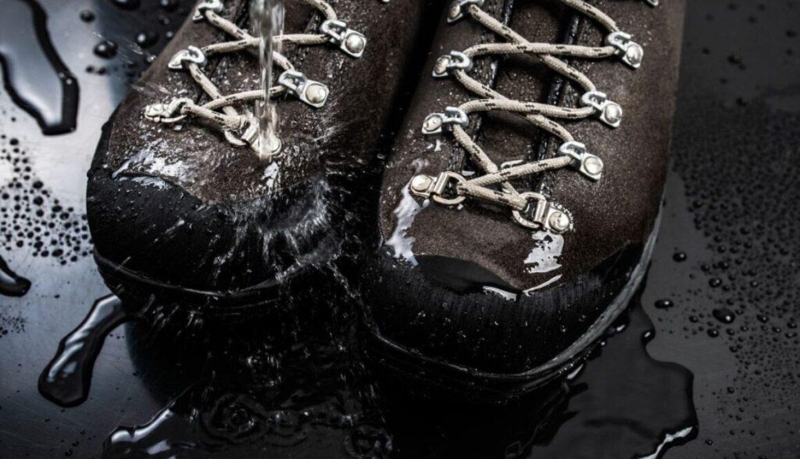 A pair of waterproof work shoes.