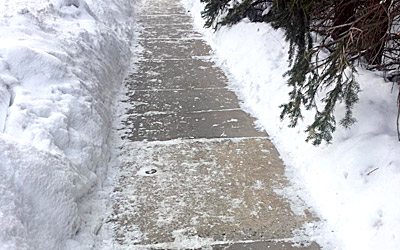 Telluride Snow Removal Sidewalks