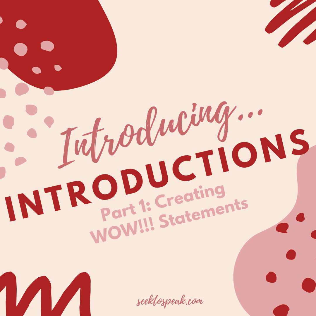 WOW Statements for Speech Introductions