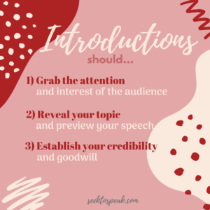 goals of speech introductions, WOW Statements