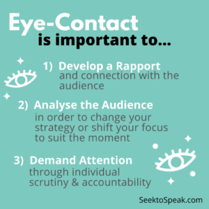 importance of eye contact in public speaking as non-verbal cues