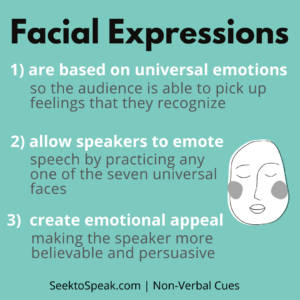 facial expression in public speaking