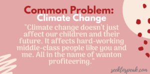 common problem, climate change