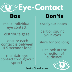 dos and don'ts of eye contact in public speaking