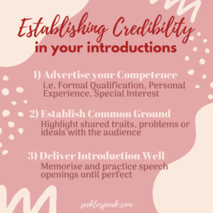 establishing credibility in introductions