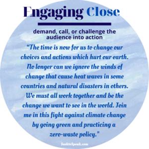 engaging close, conclusion, closing strategies, seek to speak