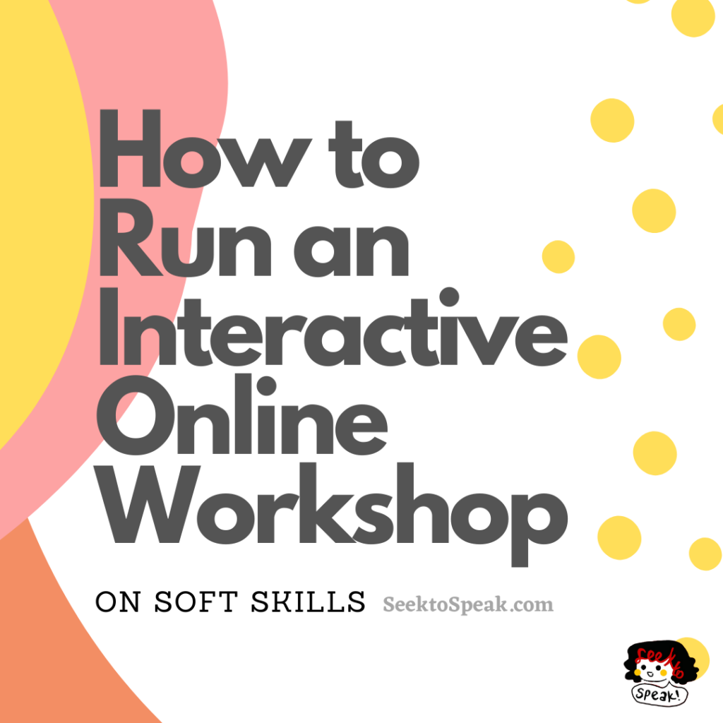 Running an Online Interactive Workshop – Experience & Takeaways