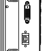 Panel Mount Drawing w/ Clips - Side