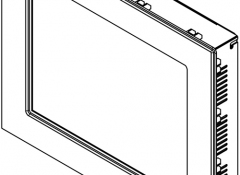 Panel Mount Drawing w/ Clips