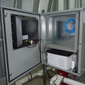 Back View of Panel Mount Unit at Customer Location