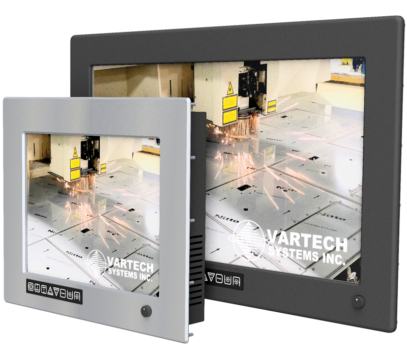 Rugged Monitors and Panel PCs built with 316-Stainless Steel or Black Powder-Coat Aluming Bezels