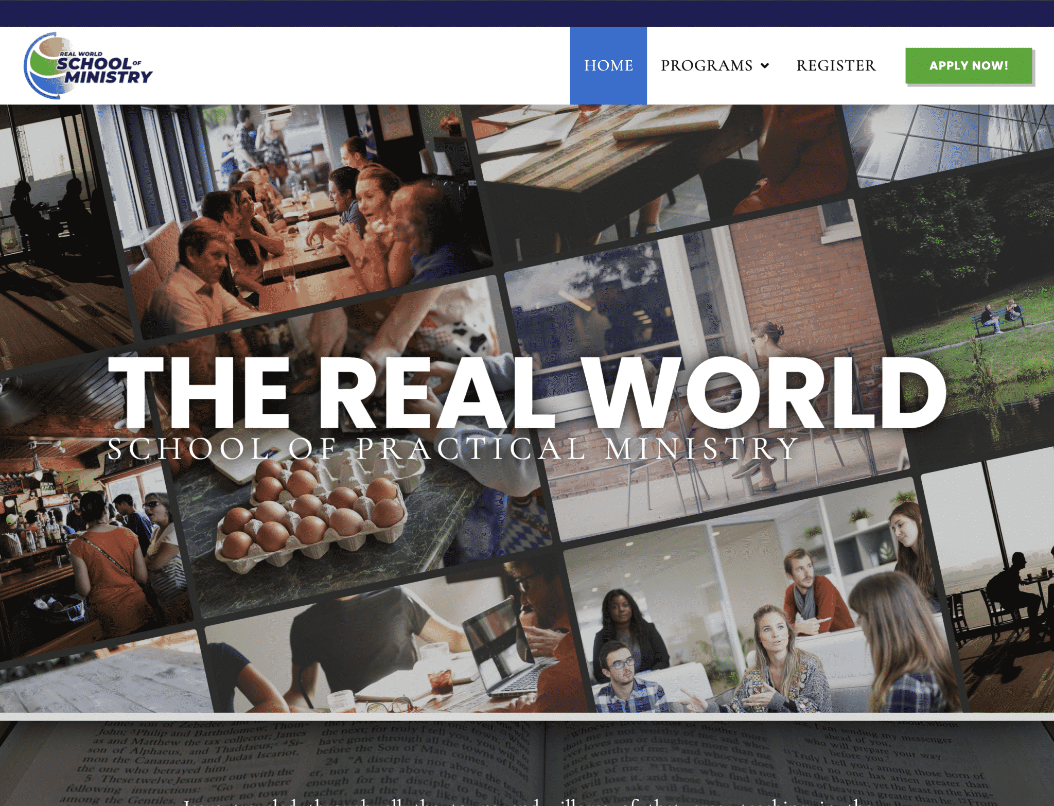 """Featured image for """"Real World School of Ministry"""""""