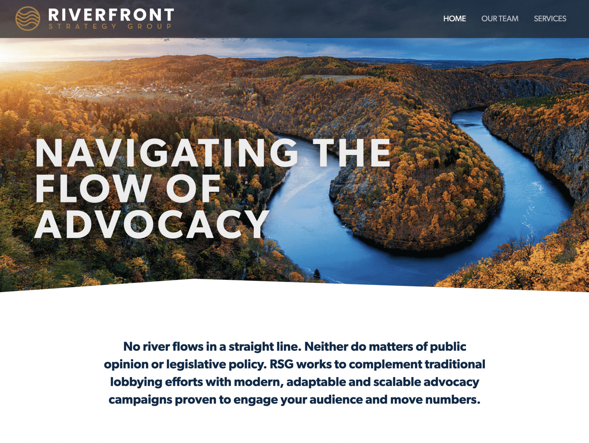 """Featured image for """"Riverfront Strategy Group"""""""