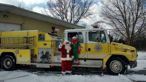 Santa and elf Xmas 2017