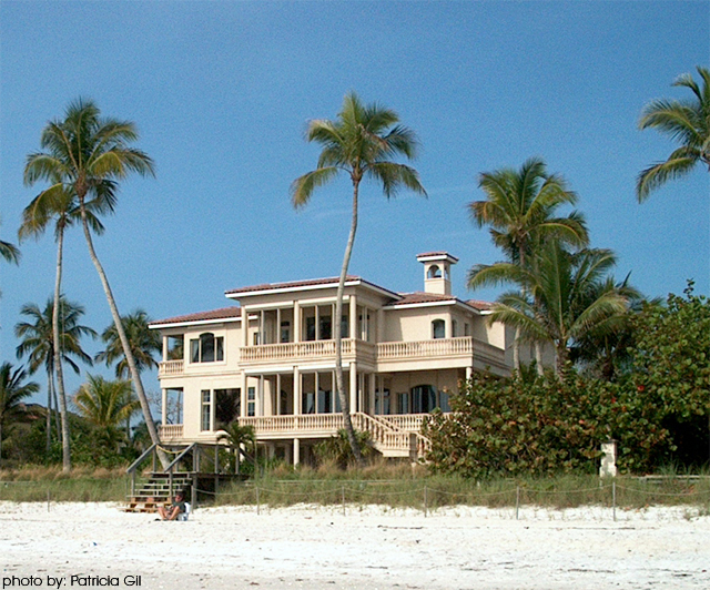 Beach-front home in Old Naples, Florida