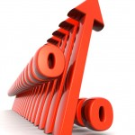graphic of interest rate arrows pointing upward
