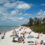 "white ""sugar sand"" beach at Naples, Florida"