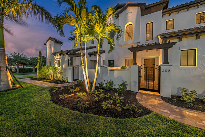 Santa Barbara Style Corsica Coach Homes at Talis Park, Naples, Florida built by Open Communities - photo: talispark.com