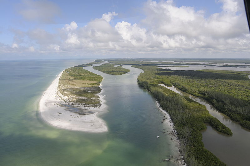 Naples on least polluted cities list. Aerial view of an island in Rookery Bay Photo: by RW