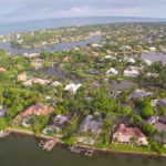 Aerial view of Naples, Florida waterfront homes in Port Royal.