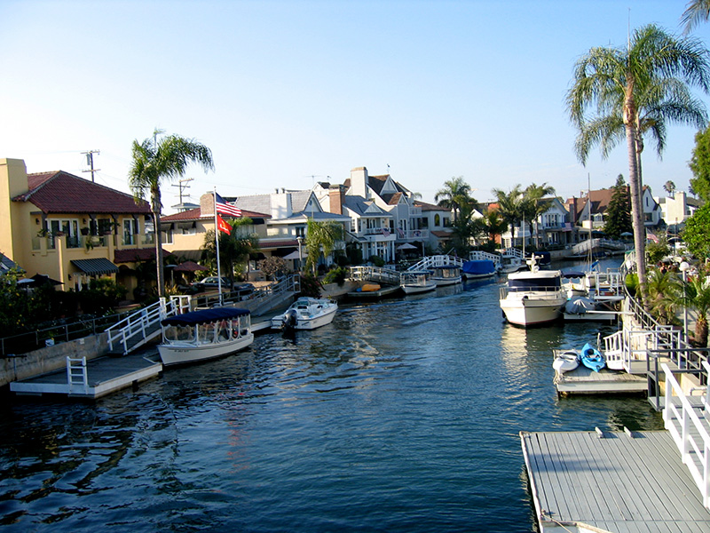 Naples, Florida canal living