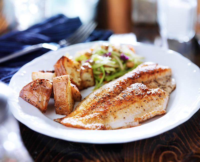 fish and potatoes