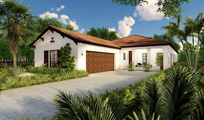 CC Homes new construction at Maple Ridge, Ave Maria, Florida