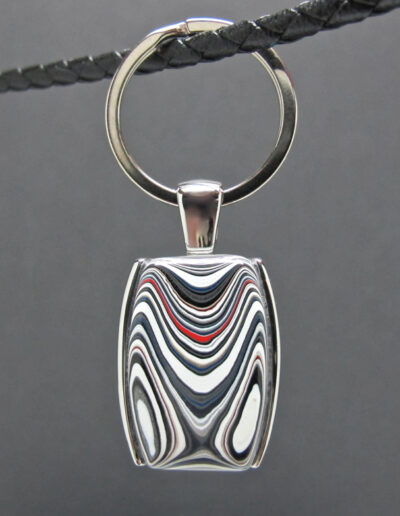 Stainless-Steel-and-Motor-Agate-Fordite-Key-Ring-1463