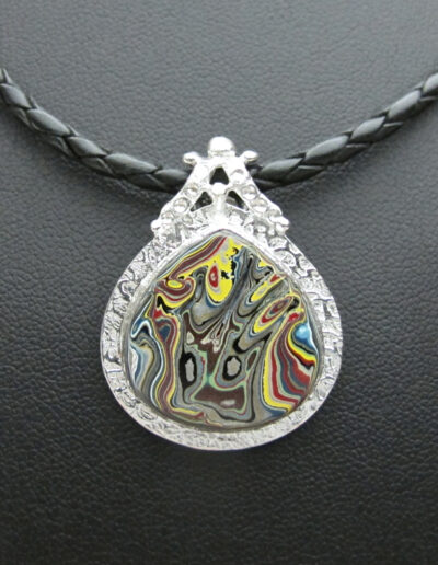 Stainless-Steel-and-Motor-Agate-Fordite-Necklace-1564-1