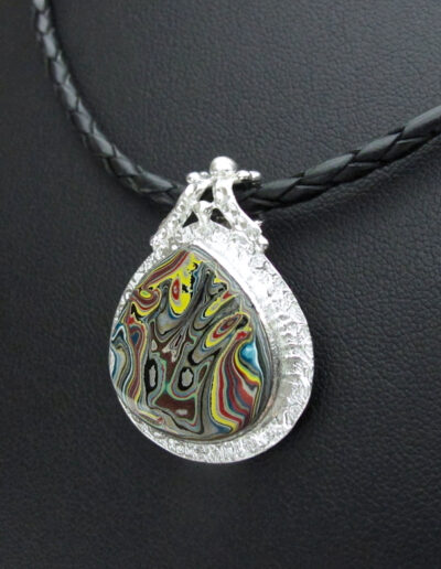 Stainless-Steel-and-Motor-Agate-Fordite-Necklace-1564-2
