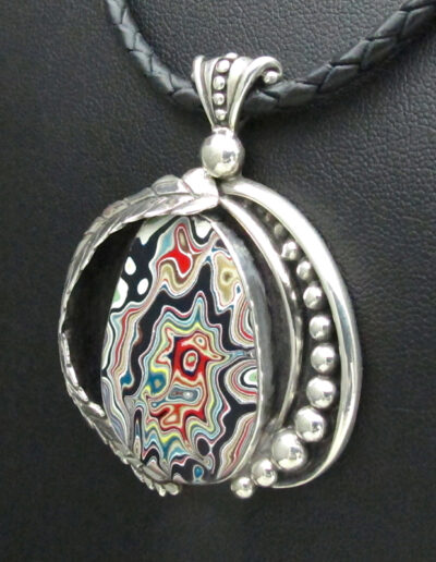 Sterling-Silver-Leather-and-Motor-Agate-Fordite-Necklace-1400-3