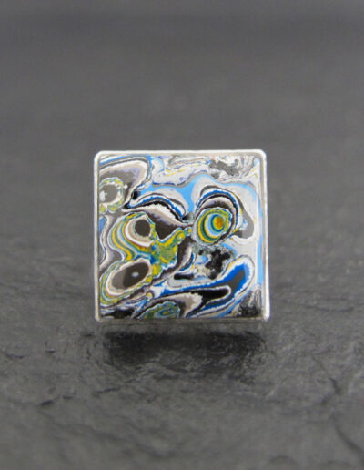 Sterling-Silver-_-Motor-Agate-Fordite-Lapel-Pin-Tie-Tack-1363-1