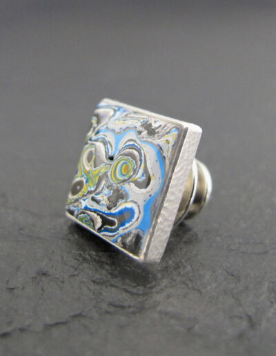 Sterling-Silver-_-Motor-Agate-Fordite-Lapel-Pin-Tie-Tack-1363-2