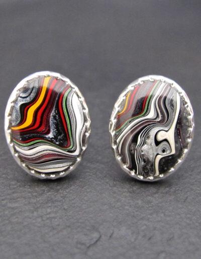 Sterling-Silver-_-Motor-Agate-Fordite-Oval-Cufflinks-1348