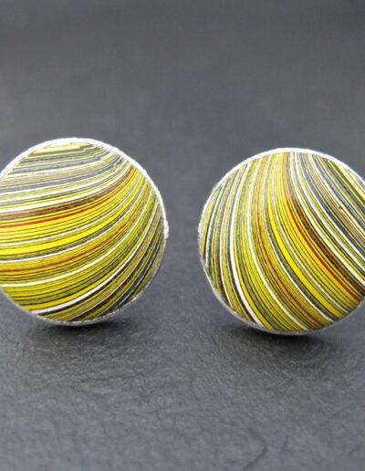 Sterling-Silver-_-Motor-Agate-Fordite-Round-Cufflinks-1305