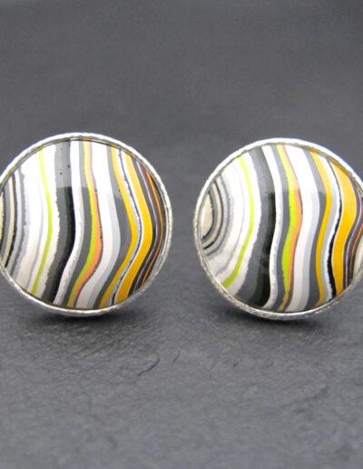 Sterling-Silver-_-Motor-Agate-Fordite-Round-Cufflinks-1337