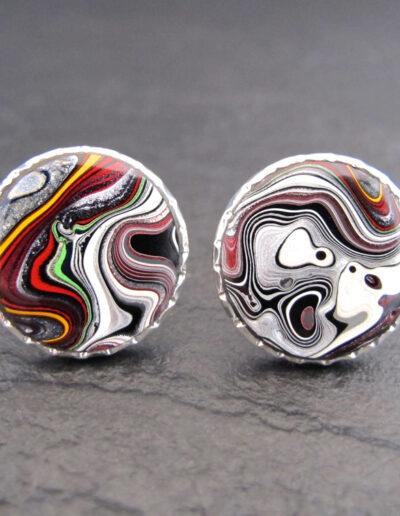 Sterling-Silver-_-Motor-Agate-Fordite-Round-Cufflinks-1359