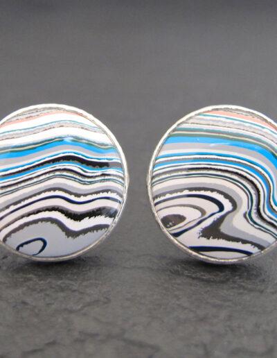 Sterling-Silver-_-Motor-Agate-Fordite-Round-Cufflinks-1367